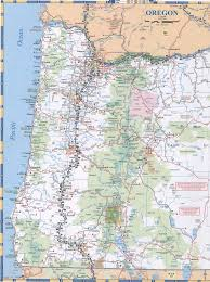 map of oregon state oregon
