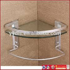 Bathroom Glass Shelves With Towel Bar 1600a Aluminum Single Corner Glass Shelf With Towel Bar Bathroom