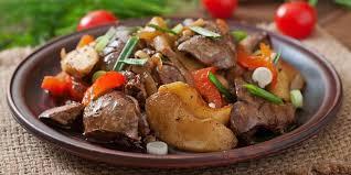 cuisiner du foie foie de veau aux pommes recettes femme actuelle