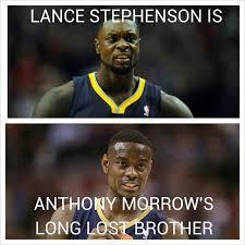 Lance Stephenson Meme - nba meme team on twitter lance stephenson anthony morrow http