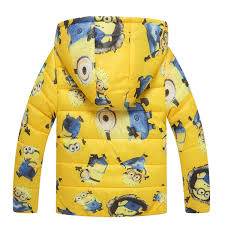 cheap baby despicable me minion jacket hooded kids cotton padded