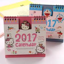 minion desk calendar 2017 2017 hello kitty minion baymax panda totoro lucu kartun kantor