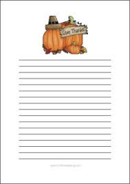 free thanksgiving writing paper with lines
