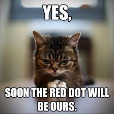 Soon Cat Meme - yes soon the red dot will be ours world domination cat quickmeme
