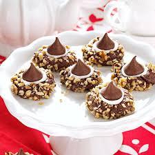 homemade thanksgiving cookies chocolate thumbprints cookies recipe taste of home