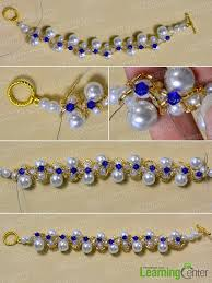 beaded bracelet make necklace images Pandahall 39 s tutorial on how to make a girls 39 white pearl beaded jpg