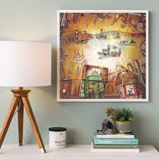 online shop vintage fantasy city dream boat stars abstract fairy