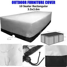 Outdoor Waterproof Furniture by 10 Seater Outdoor Furniture Cover Waterproof Polyester Coffee