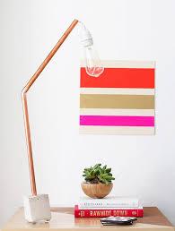 Zig Zag Floor Lamp A Dozen Chic Diys Made With Copper Piping Brit Co