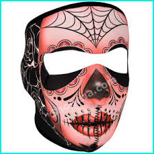 Day Of The Dead Mask Sugar Skull Neoprene Ski Face Mask Snowboard Motorcycle Scary Day