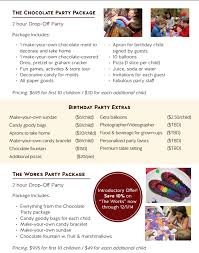 get the sweetest party in nyc at chocolate works kids u0027 birthday