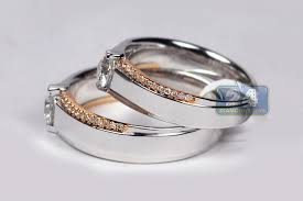 wedding sets his and hers diamond solitaire wedding bands rings his set 18k gold