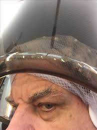 men with red fingernails and curlers in hair so sexy to c a man in curlers under the dryer and netted hair