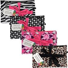 bulk zippered cosmetic bags 2 ct packs at dollartree