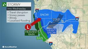 Rainfall Map Usa California Braces For Waves Of Heavy Rain Snow Into The Weekend