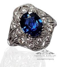 antique rings sapphire images 2 92 ct antique sapphire engagement ring gia royal blue oval cut jpg