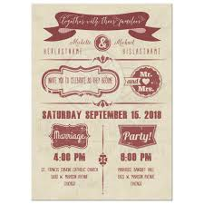 wedding invitations stamps marsala typography with grunge stamps wedding invitation