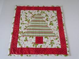 christmas tree quilted table topper christmas table runner