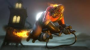 tf2 halloween desktop background gas mask team fortress 2 pyro 3d graphics games