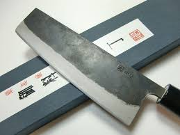 Japanese Kitchen Knives Japanese Kitchen Knife Cutlery Kurouchi Nakiri Knife