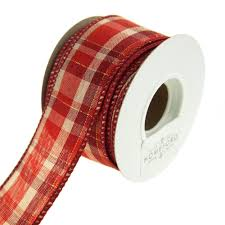 christmas wired ribbon plaid checkered christmas wired ribbon 10