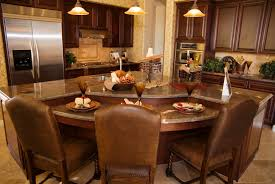 Kitchen Island With Table Attached by Kitchen Center Island Design For Kitchens Brown Wooden Flooring
