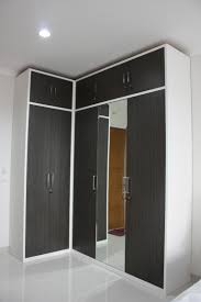 Wardrobe Layout Customized L Shaped Wardrobe In Japanese Bamboo Hpl Finish A
