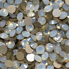 online buy wholesale mixed flat back rhinestone shapes with no color white opal nail flat back non hot fix rhinestones round shape flatback non hotfix crystals
