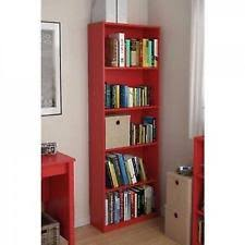 5 Shelves Bookcase Shelf Bookcase 5 Storage Bookshelfs Set Of 2 Wood Furniture