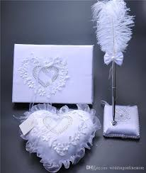 wedding guest book and pen set set burlap hessian lace wedding guest book pen set ring