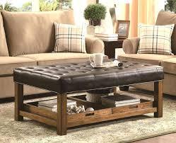 Large Leather Ottoman Large Leather Ottoman Coffee Table Fieldofscreams