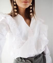 blouse tumbler white ruffle blouse