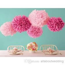 Flower Ball Colorful Tissue Paper Flower Ball Tissue Paper Pom Poms 14 35cm