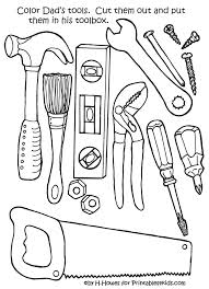 Construction Worker Coloring Sheets Pages Tools For Girls Tools Coloring Page