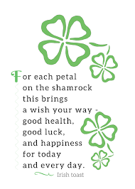 free irish toast printable decorations for st patrick u0027s day a