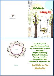 Wishes For Wedding Cards Example Of Wedding Card Best Wishes For A Happy Life