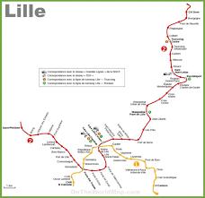 Metro La Map Metro Map Lille Lille Subway Map Hauts De France France