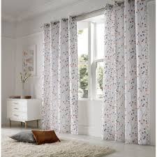 Danielle Eyelet Curtains by Alan Symonds Berry Orange Readymade Eyelet Curtains Available Now