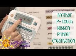 how to install brother p touch tape brother p touch ribbon printer recorded live creativation youtube