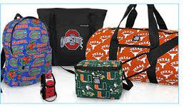 wholesale merchandise ncaa college logo bags scrubs apparel