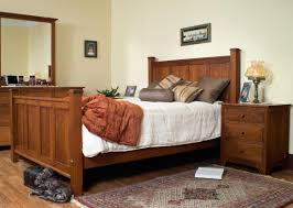 Amish Made Bedroom Furniture by Mission Style Bed Plans Amish Bedroom Furniture Shaker Frame