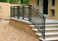 outside porch handrails for stairs precious vinyl deck stair stair