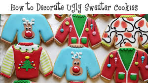 sweater cookies how to decorate sweater cookies