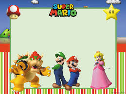 super mario brothers party invitations best places to vacation