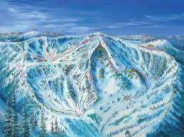 Bear Creek Trail Map Ski Trail Map Artist Kevin Mastin
