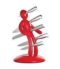 Unique Kitchen Knives Amazon Com The Ex 5 Piece Knife Set With Unique Red Holder Block