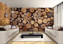 logs custom wallpaper mural print by jw