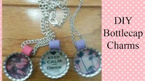 bottle cap necklaces diy bottle cap charms with liquid glue youtube