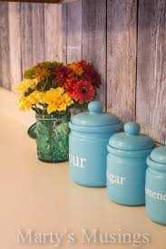 turquoise kitchen canisters whimsical kitchen canisters