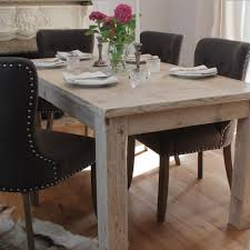 White Wooden Dining Table And Chairs Distressed Wood Dining Table Dining Room Sustainablepals